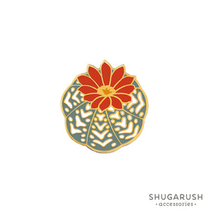 Cactus Enamel Pin - Orange