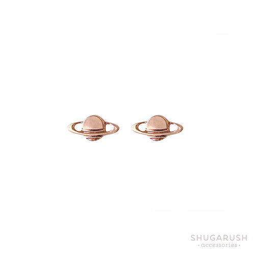 Saturn Earrings - Rose Gold