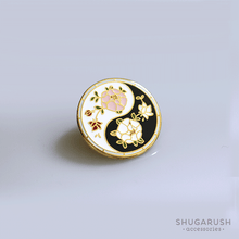 Yin Yang Enamel Pin in - Color