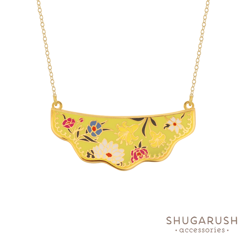 Wildflower necklace - Yellow