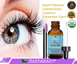 Rastarafi® 100% Pure Organic Castor Oil For Eyelashes, Skin & Face