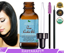 Rastarafi® 100% Pure Organic Castor Oil For Eyelashes, Skin & Face | Fast Hair Growth