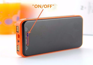 Portable Waterproof Solar Charger Orange