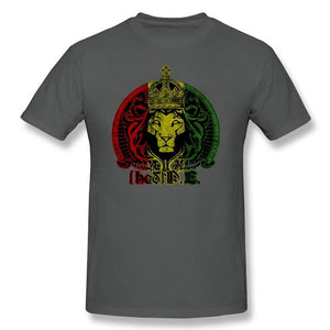Lion Of Judah T-Shirt for Men Rasta King | Reggae Lion Crew Neck T Shirt