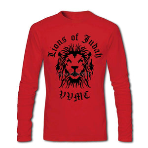Lion Of Judah Full Sleeve T-Shirt Red