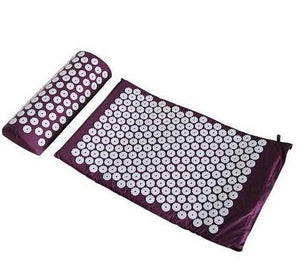 Acupuncture Spike Yoga Mat with Pillow Purple
