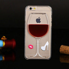 Liquid Quicksand Wine Glass iPhone Case