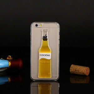 Liquid Quicksand Beer Bottle iPhone Case Cover