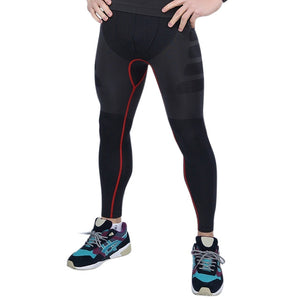Yoga Pro Compression Tights Black Red