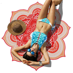 Indian Bohemian Mandalas Totem Lotus Wall Hanging Yoga Mat Beach Towel