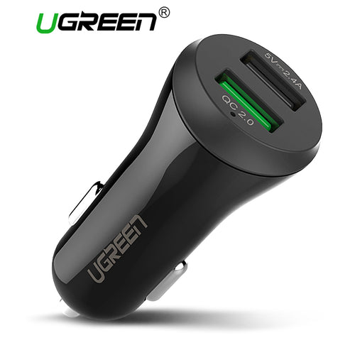 UGreen Dual USB Car Adapter Charger for iPhone 8 7 6 & Samsung Smartphones