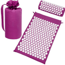 Acupuncture Spike Yoga Mat with Pillow Red