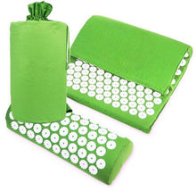Acupuncture Spike Yoga Mat with Pillow Green 2
