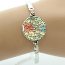 TAFREE Elegant Charm Vintage Map Bracelet | Custom Handcrafted Jewelry Gift - Various Maps Available