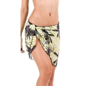 Women's Beach Skirt Chiffon Bikini Cover Up | Printed Beachwear Sarong Wrap Skirt