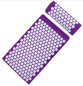 Acupuncture Spike Yoga Mat with Pillow Burgundy