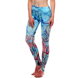 Women's Floral Yoga Pants Printed Elastic Gym Wear | Sports Leggings Compression Tights