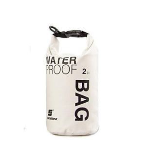Portable Water Bottle Dry Bag | White