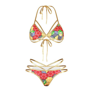 Womail Two Piece Rasta Bikini Swimsuit - Unique Design II