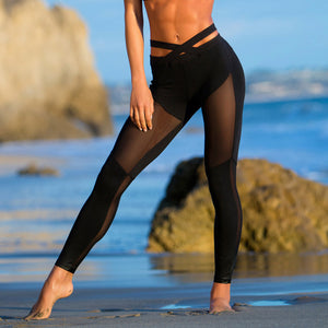 Women's Yoga Sports Compression Leggings | See Through Yoga Pants - Fitness Sportswear