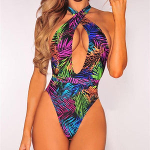 Island Glory Sexy Swimwear Women's One Piece Monokini | Push Up High Waist Swimsuit