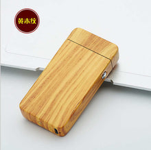 Plasma Arc USB Rechargeable Lighter - Wood Grain