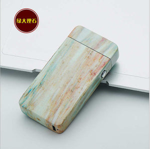 Plasma Arc Electronic USB Lighter - Teal Wood Grain