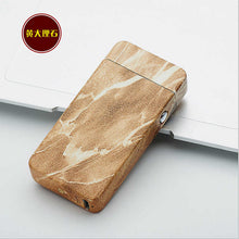 Marble-Style Arc USB Rechargeable Lighter | Windproof No Gas Smokeless Flameless Electric Cigarette Lighter