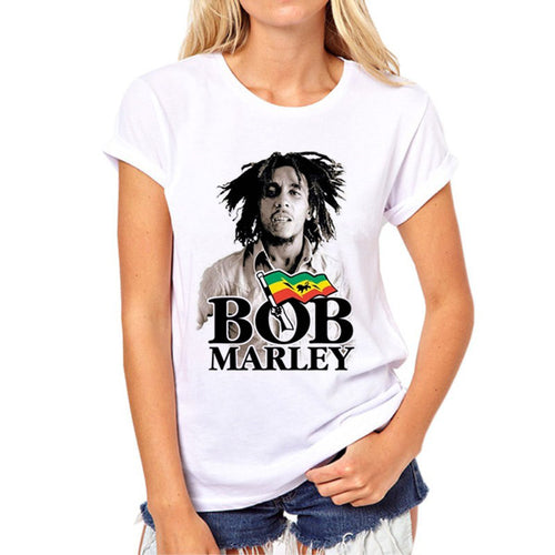 New Fashion Bob Marley Roots Rock Reggae T-Shirt for Women | 3D Print Rasta Tees