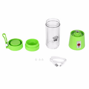 Mini Portable USB Rechargeable Smoothie Maker -Green