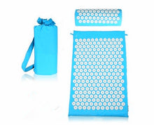 Acupuncture Spike Yoga Mat with Pillow Sky Blue