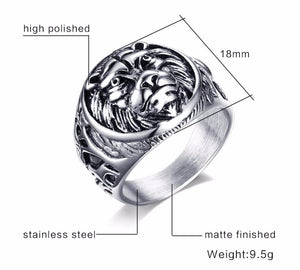 Men's Lion of Judah Lion Head Ring Style