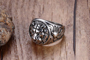 Men's Lion of Judah Ring | Lion Head Ring I