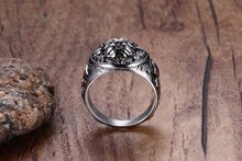 Men's Lion Silver Ring | Lion Head Ring