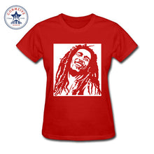 Reggae Star Bob Marley Rasta Cotton T-Shirts -Women