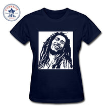 Reggae Star Bob Marley Cotton T-Shirts Women Black