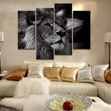 4 Panel Lion Head Portrait Wall Art I