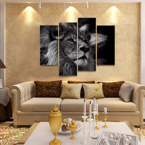Lion Head Painting | Canvas Wall Art