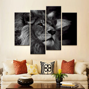 Lion Head Portrait Wall Art
