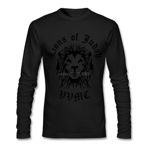 Lion Of Judah Full Sleeve T-Shirt- Black