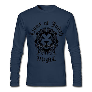 Lion Of Judah Full Sleeve T-Shirt- Blue