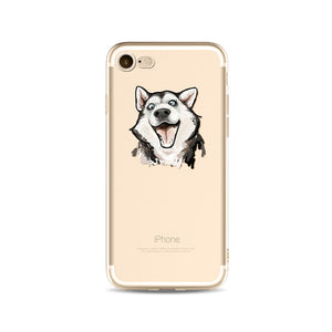 Silicone Transparent Phone Case for iPhone- Cat Phone Case