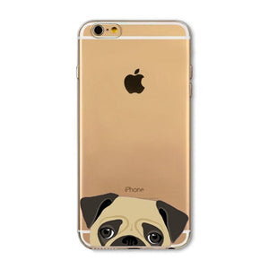 Silicone Transparent Phone Case for iPhone- Cute Dog