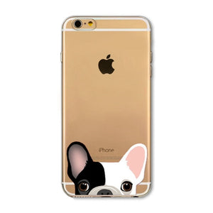 Silicone Transparent Phone Case for iPhone -Pink Kitty