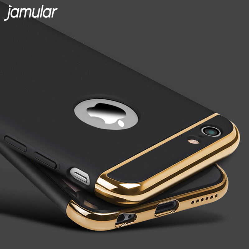 Luxury Hard Case For iPhone X 8 Plus 7 6 6S 5S SE Back Cover Case With Removable Covering