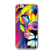 Case For Apple iPhone 8 7 6 5 Plus SE Soft Silicone TPU Case | Animal Tiger Lion Phone Cover Case