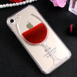 Liquid Quicksand Phone Case Wine Cup