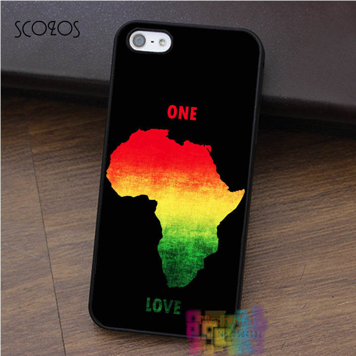 SCOZOS One Love Africa Rasta  Smartphone Case For iPhone X 8 7 6 5 4 Plus