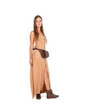 Designer leather belt bag POLA | Chocolate