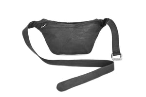 BAGSU design leather belt bag ANABELLE black - back view